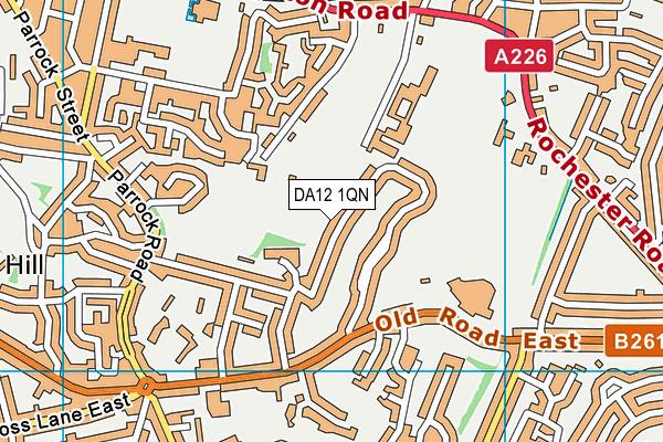 DA12 1QN map - OS VectorMap District (Ordnance Survey)