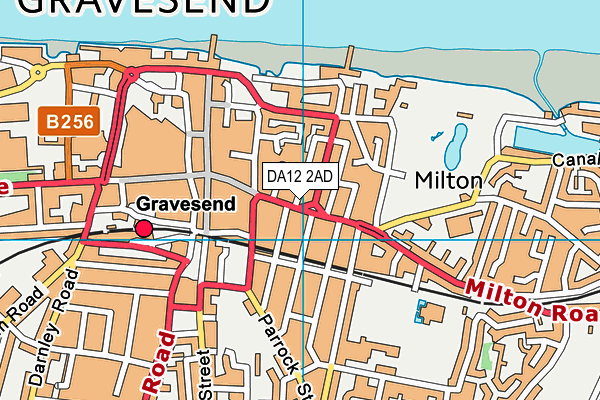 DA12 2AD map - OS VectorMap District (Ordnance Survey)