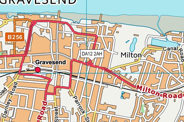 DA12 2AH map - OS VectorMap District (Ordnance Survey)
