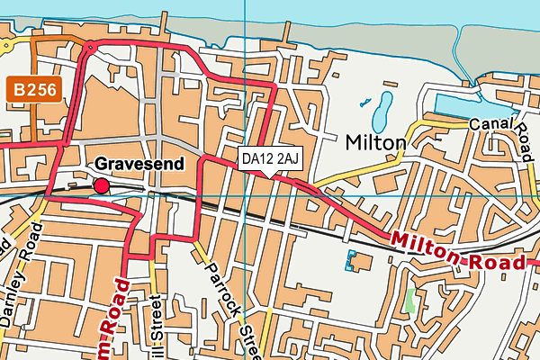 DA12 2AJ map - OS VectorMap District (Ordnance Survey)