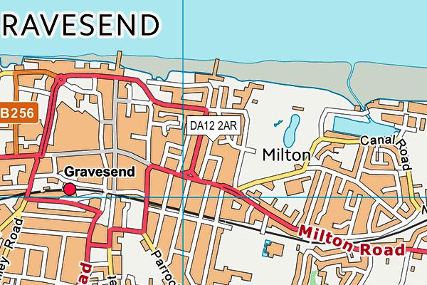 DA12 2AR map - OS VectorMap District (Ordnance Survey)