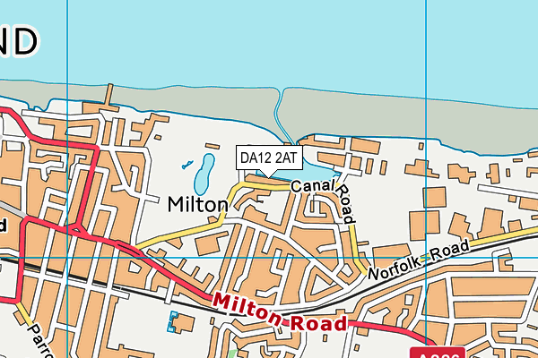 DA12 2AT map - OS VectorMap District (Ordnance Survey)