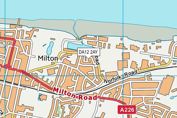 DA12 2AY map - OS VectorMap District (Ordnance Survey)