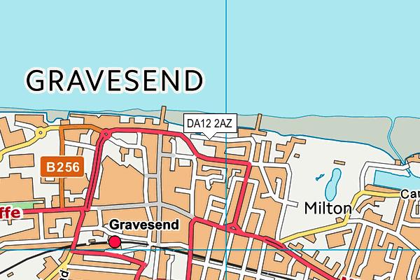 DA12 2AZ map - OS VectorMap District (Ordnance Survey)
