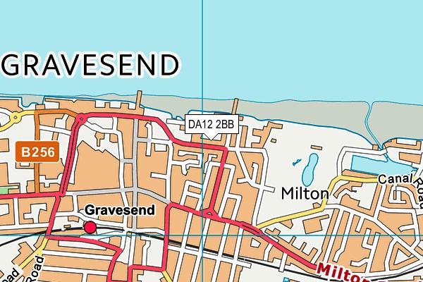 DA12 2BB map - OS VectorMap District (Ordnance Survey)