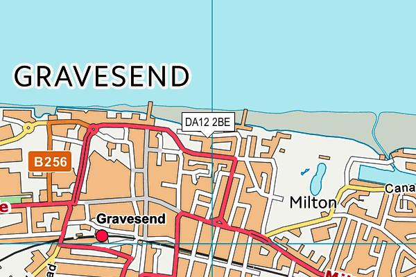DA12 2BE map - OS VectorMap District (Ordnance Survey)