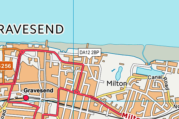 DA12 2BP map - OS VectorMap District (Ordnance Survey)