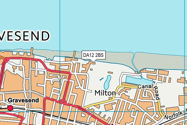 DA12 2BS map - OS VectorMap District (Ordnance Survey)