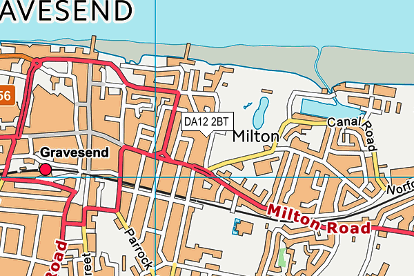 DA12 2BT map - OS VectorMap District (Ordnance Survey)