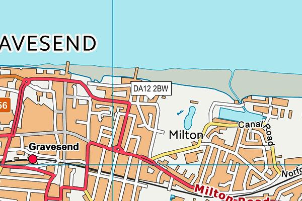 DA12 2BW map - OS VectorMap District (Ordnance Survey)