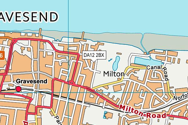 DA12 2BX map - OS VectorMap District (Ordnance Survey)