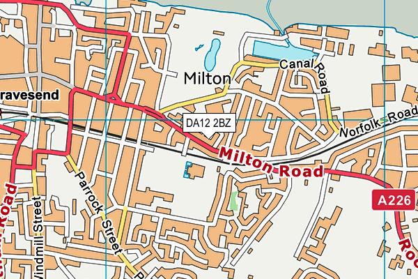 DA12 2BZ map - OS VectorMap District (Ordnance Survey)