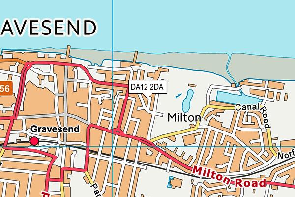 DA12 2DA map - OS VectorMap District (Ordnance Survey)