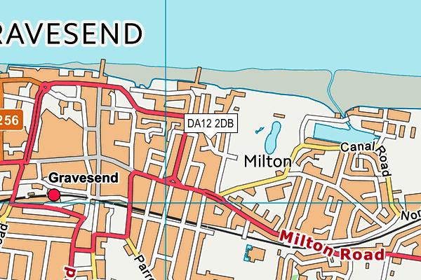DA12 2DB map - OS VectorMap District (Ordnance Survey)
