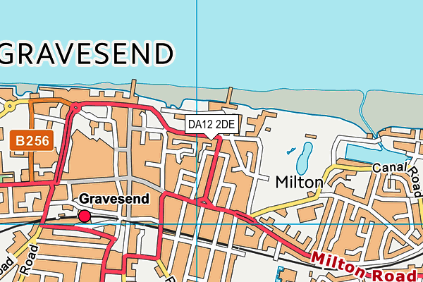 DA12 2DE map - OS VectorMap District (Ordnance Survey)