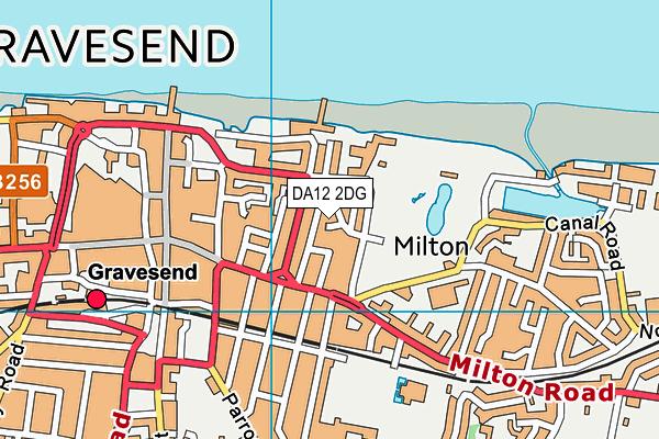 DA12 2DG map - OS VectorMap District (Ordnance Survey)
