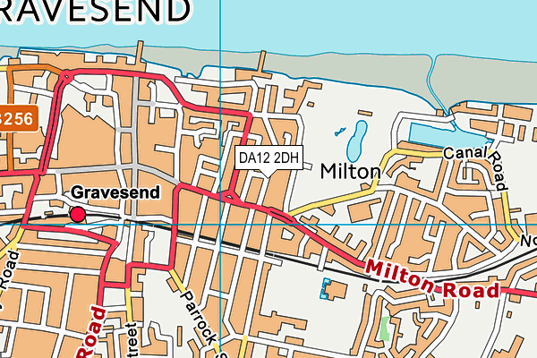 DA12 2DH map - OS VectorMap District (Ordnance Survey)