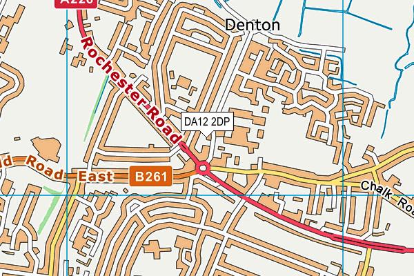 DA12 2DP map - OS VectorMap District (Ordnance Survey)