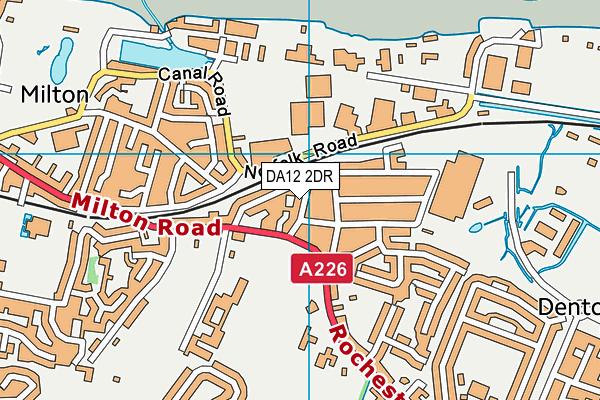 DA12 2DR map - OS VectorMap District (Ordnance Survey)