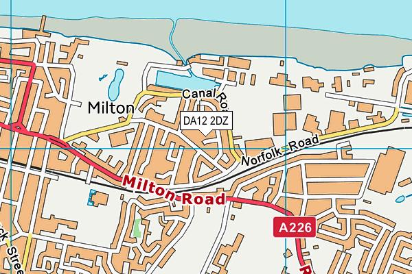 DA12 2DZ map - OS VectorMap District (Ordnance Survey)