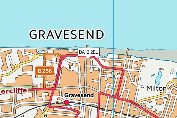 DA12 2EL map - OS VectorMap District (Ordnance Survey)