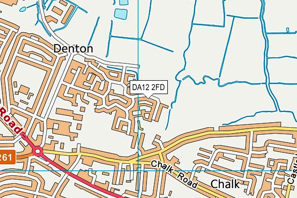 DA12 2FD map - OS VectorMap District (Ordnance Survey)