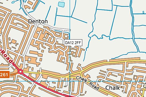 DA12 2FF map - OS VectorMap District (Ordnance Survey)