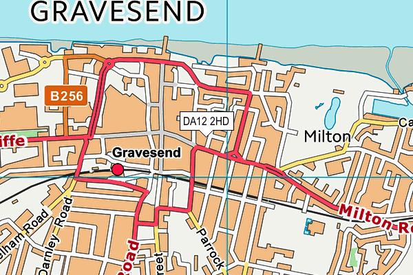 DA12 2HD map - OS VectorMap District (Ordnance Survey)