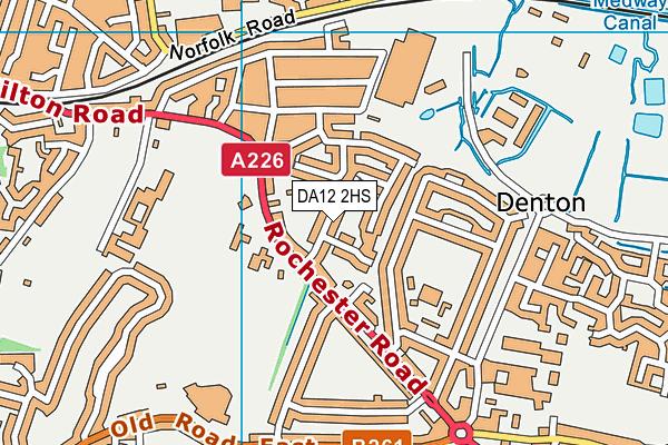 DA12 2HS map - OS VectorMap District (Ordnance Survey)