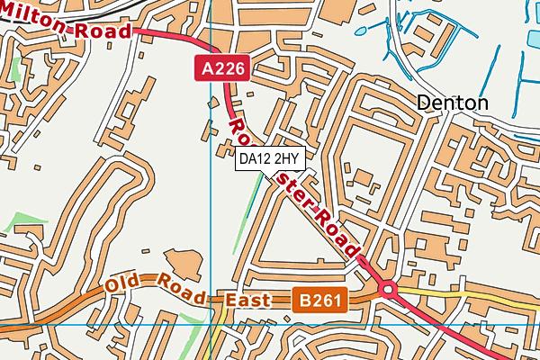 DA12 2HY map - OS VectorMap District (Ordnance Survey)