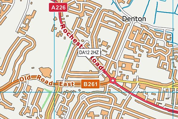 DA12 2HZ map - OS VectorMap District (Ordnance Survey)