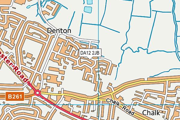 DA12 2JB map - OS VectorMap District (Ordnance Survey)
