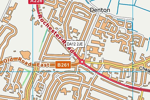 DA12 2JE map - OS VectorMap District (Ordnance Survey)