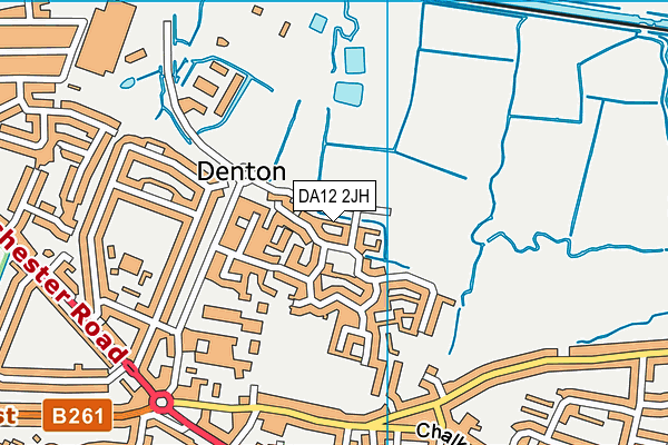 DA12 2JH map - OS VectorMap District (Ordnance Survey)