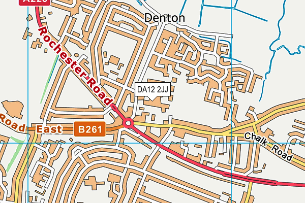 DA12 2JJ map - OS VectorMap District (Ordnance Survey)