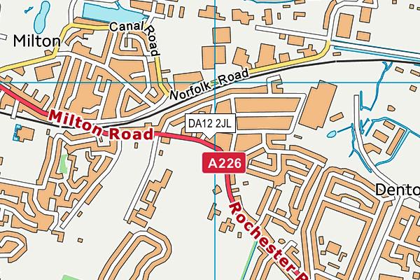 DA12 2JL map - OS VectorMap District (Ordnance Survey)