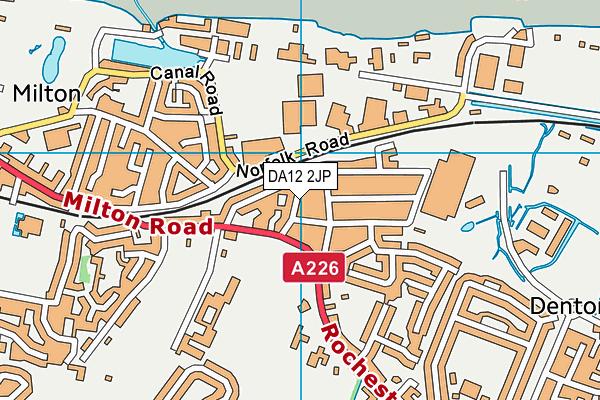 DA12 2JP map - OS VectorMap District (Ordnance Survey)