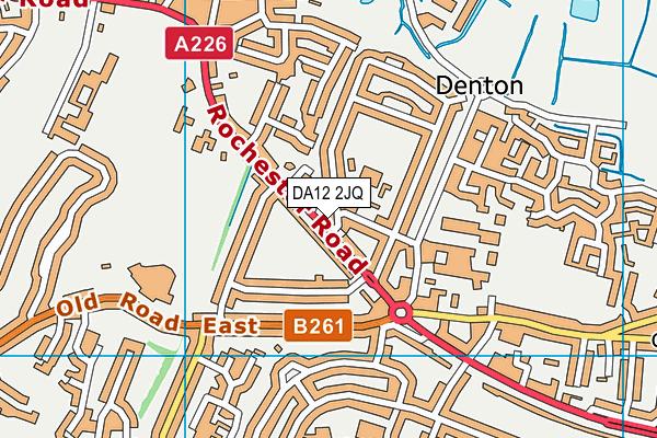 DA12 2JQ map - OS VectorMap District (Ordnance Survey)