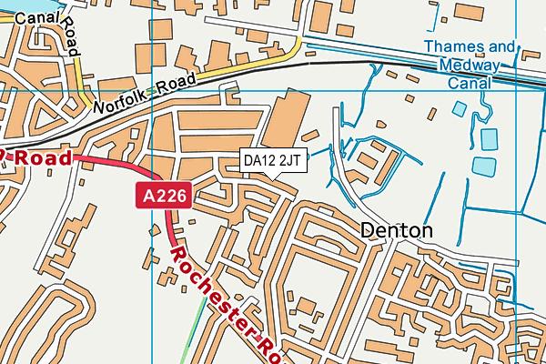 DA12 2JT map - OS VectorMap District (Ordnance Survey)