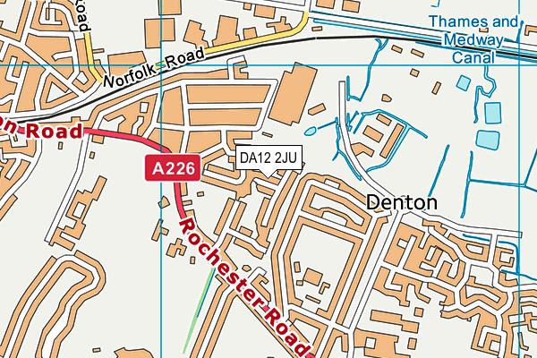 DA12 2JU map - OS VectorMap District (Ordnance Survey)
