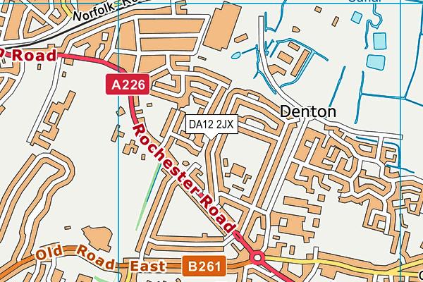 DA12 2JX map - OS VectorMap District (Ordnance Survey)