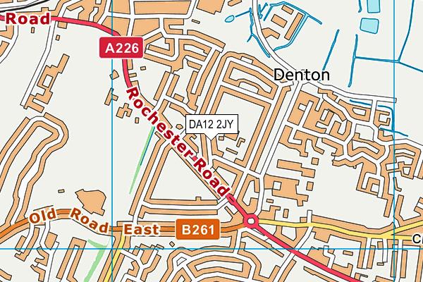DA12 2JY map - OS VectorMap District (Ordnance Survey)