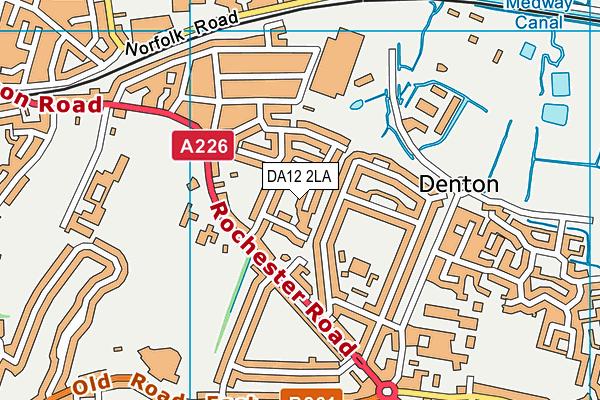 DA12 2LA map - OS VectorMap District (Ordnance Survey)