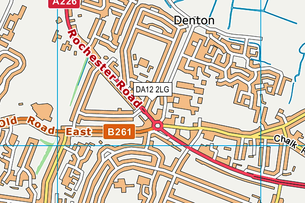 DA12 2LG map - OS VectorMap District (Ordnance Survey)