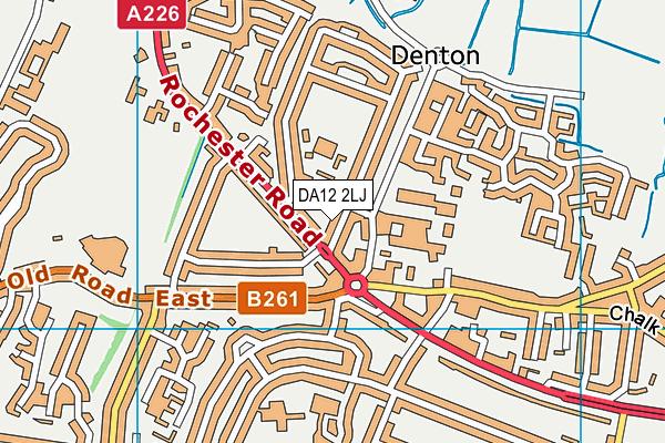 DA12 2LJ map - OS VectorMap District (Ordnance Survey)