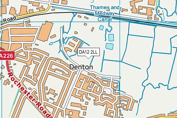 DA12 2LL map - OS VectorMap District (Ordnance Survey)
