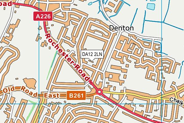 DA12 2LN map - OS VectorMap District (Ordnance Survey)
