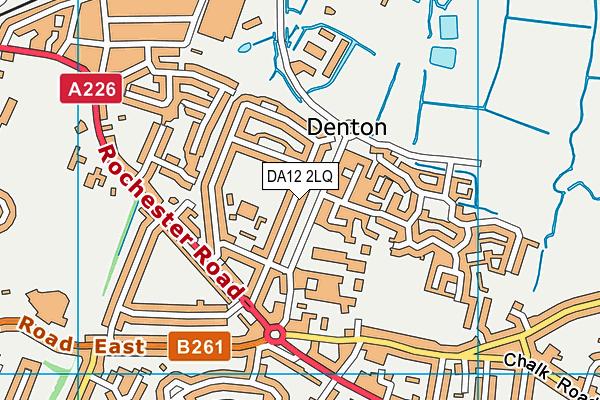 DA12 2LQ map - OS VectorMap District (Ordnance Survey)