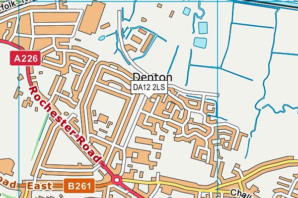 DA12 2LS map - OS VectorMap District (Ordnance Survey)