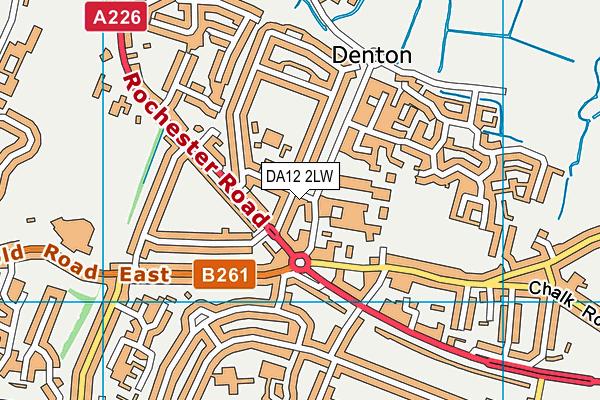 DA12 2LW map - OS VectorMap District (Ordnance Survey)